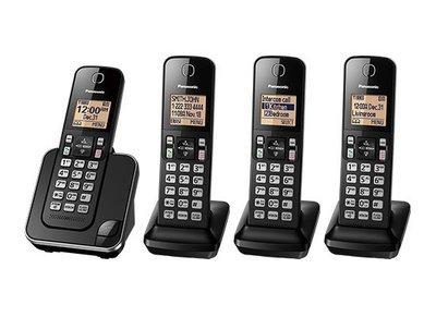 Système téléphonique sans fil numérique avec 4 combinés  KX-TGC384B de Panasonic