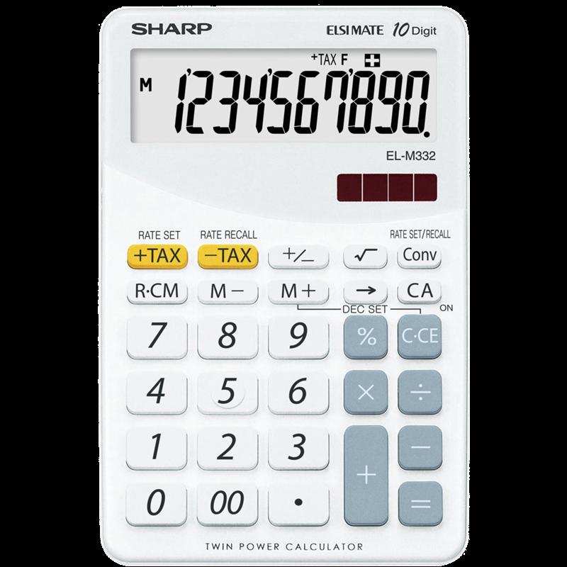 Calculatrice EL-M332B-WH Blanc de Sharp