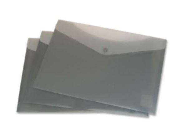 Enveloppe plastique flexible avec pochette arrière gris 90970