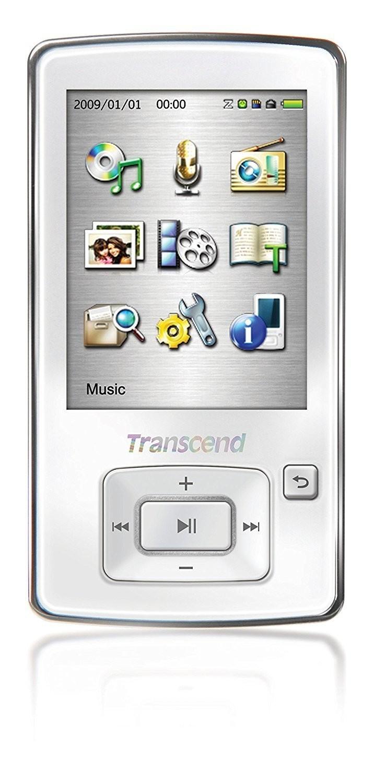 Lecteur numérique MP3 - flash 8 Go -écran: 2.4 po - blanc de Transcend