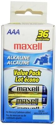 Batteries alcaline format AAA paquet de 36 de MAXELL
