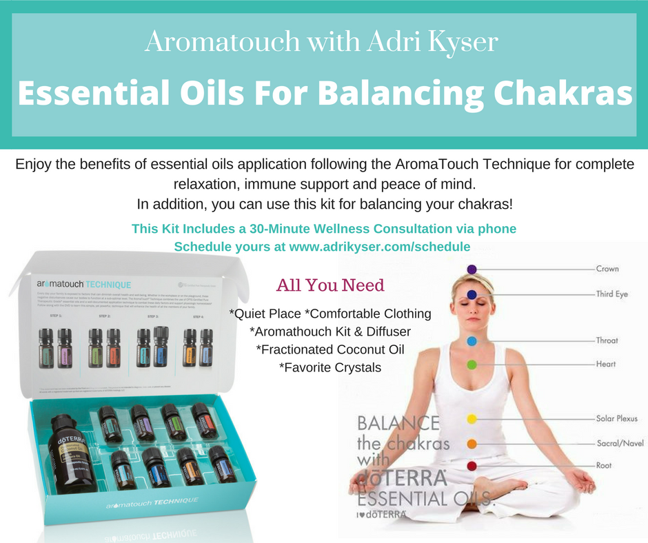AromaTouch Kit with Diffuser ~ Balancing Chakras Kit
