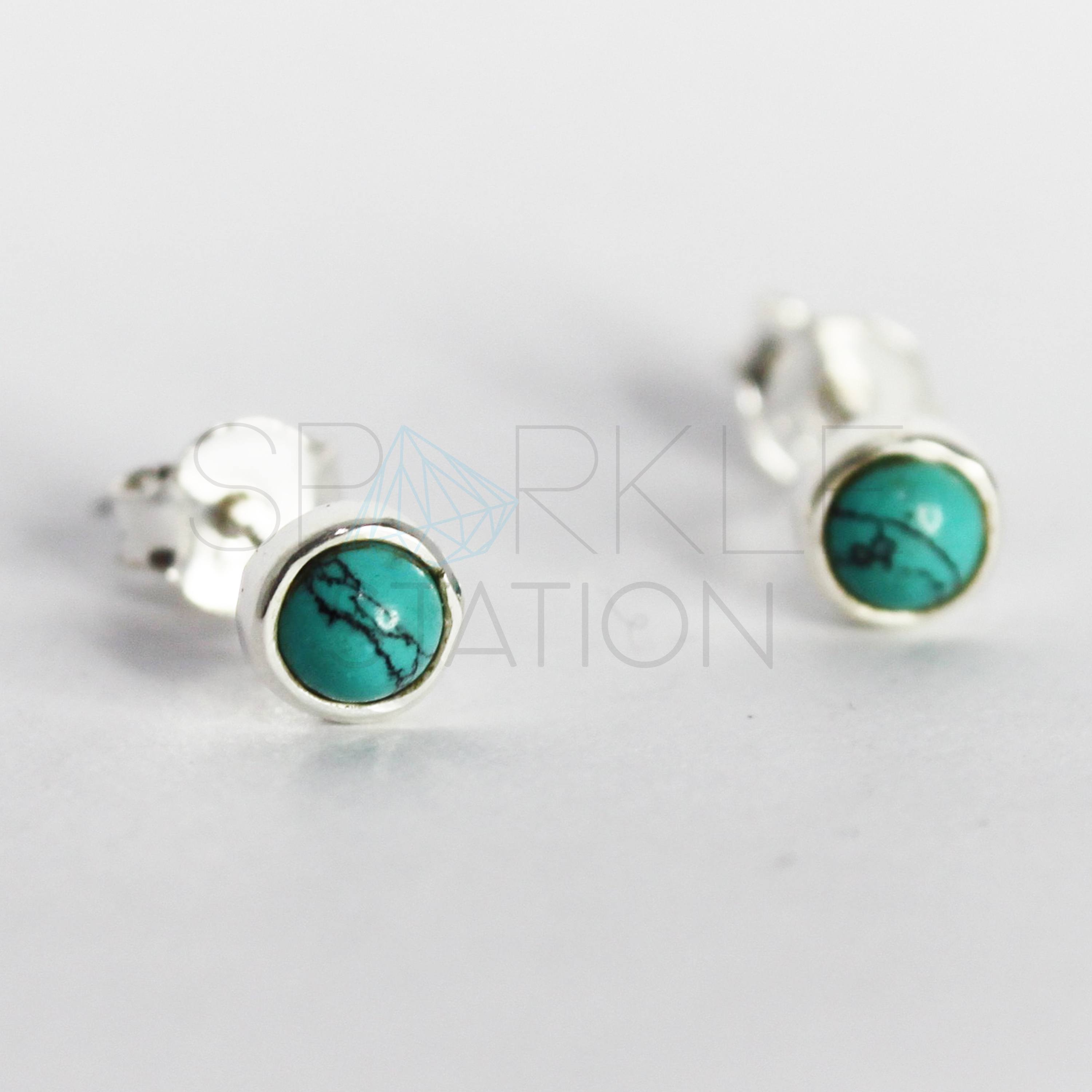 drop ml stud gifts silver for earrings turquoise min shop her