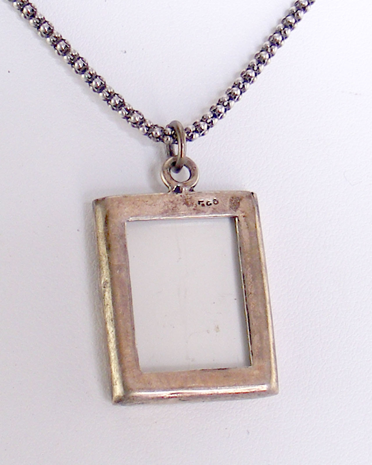Sterling Double Photo Pendant 00041