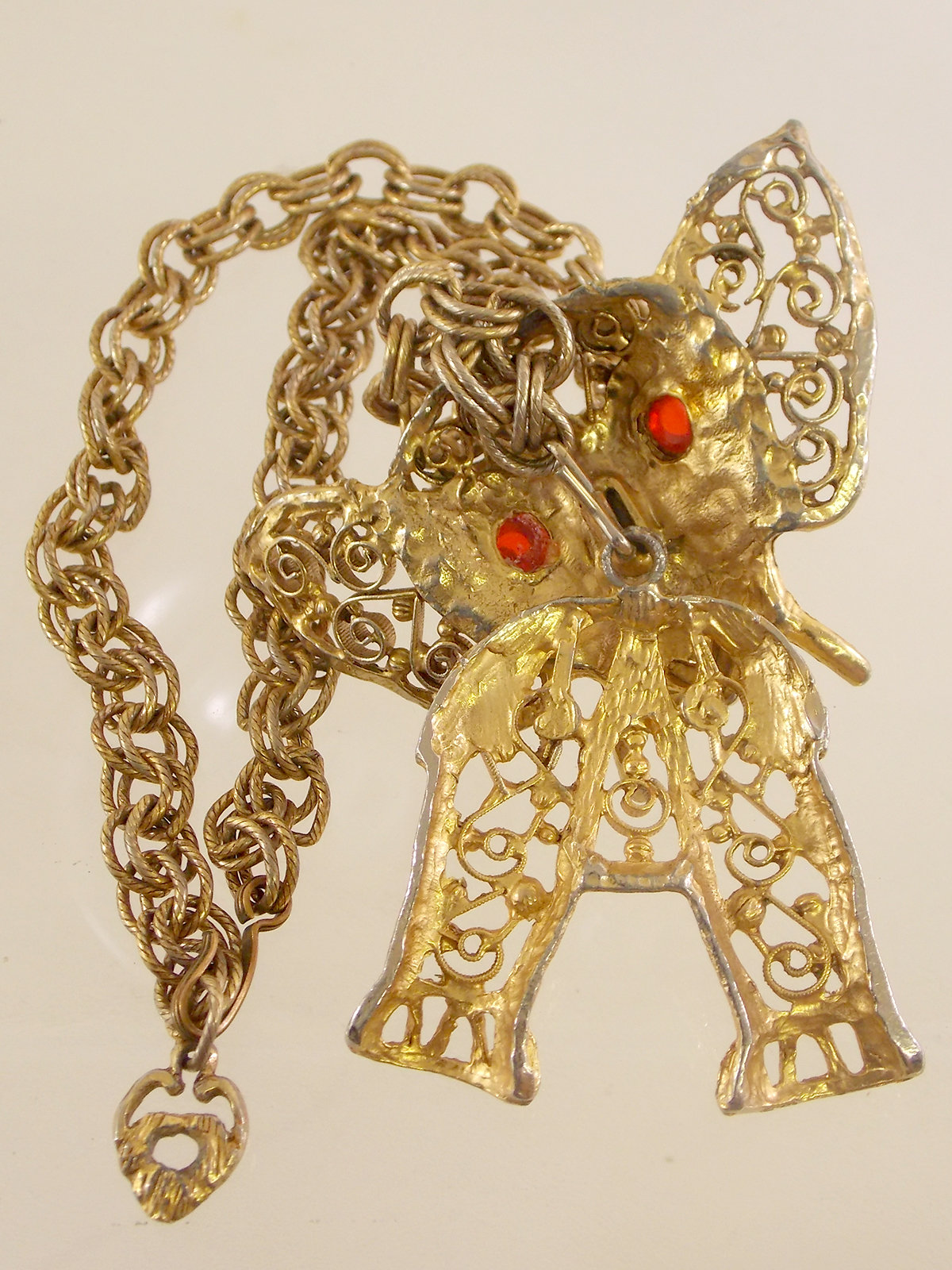 Huge Juliana Articulated Elephant Pendant