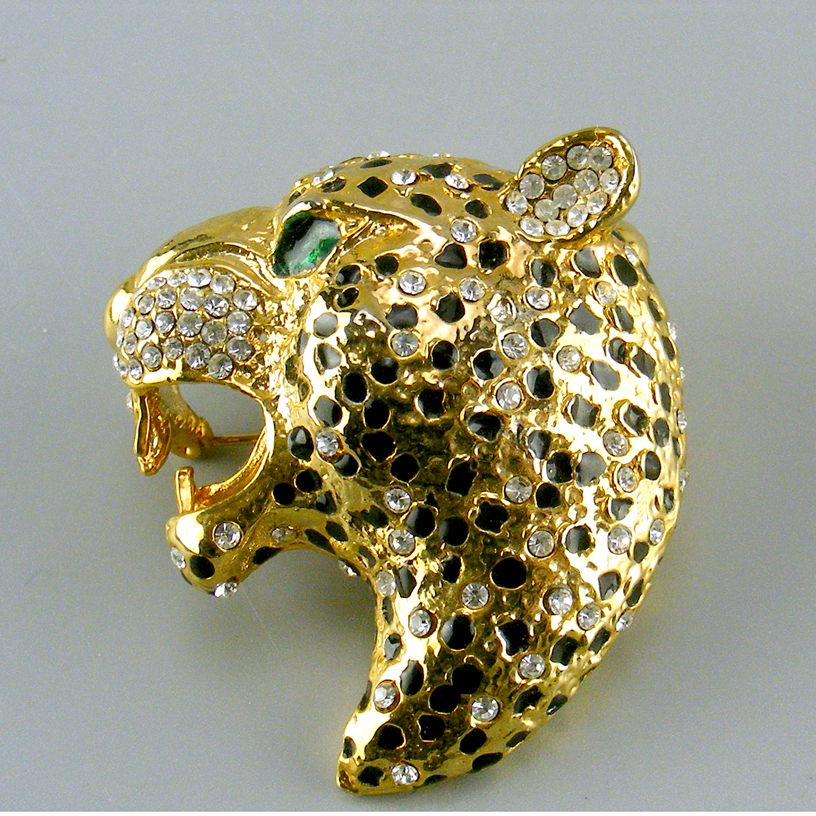 Large Leopard Head Brooch 00035