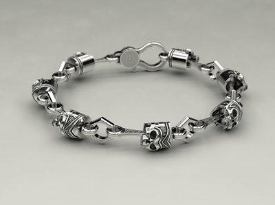 Piston Skulls Bracelet