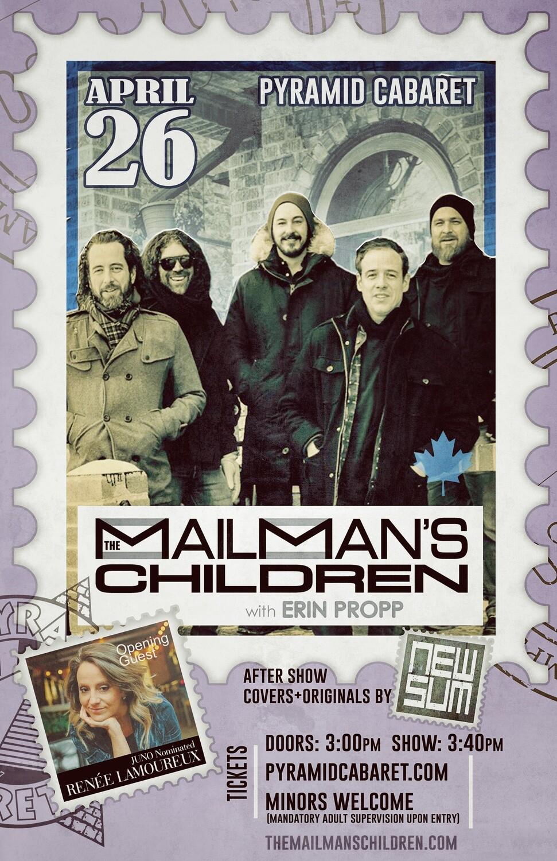 The MAILMAN'S CHILDREN - APR. 26 - Pyramid