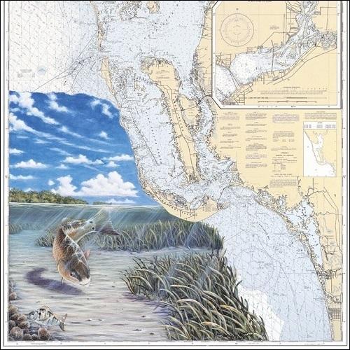 Steve Whitlock 'Charlotte Harbor Redfish Chart'