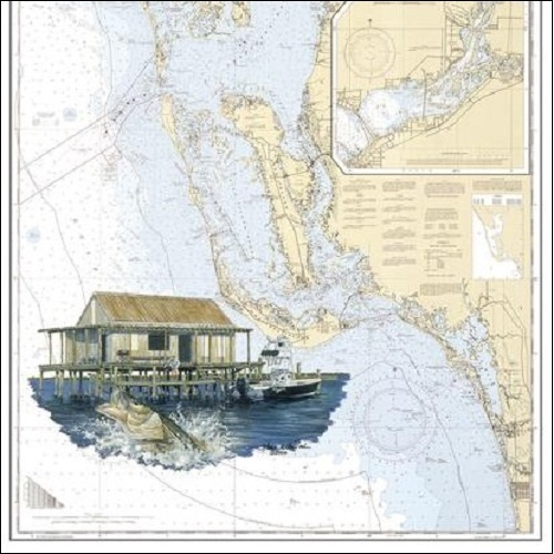 Steve Whitlock 'The Shack Chart - Fish Shack, Snook'