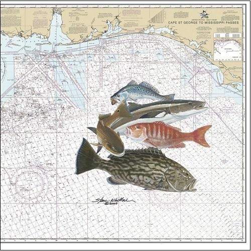 Steve Whitlock 'Near Shore Slam Chart -
