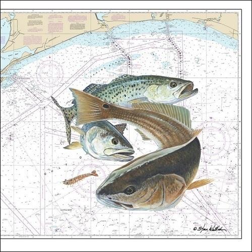 Steve Whitlock 'Galveston Texas to Louisiana Chart'