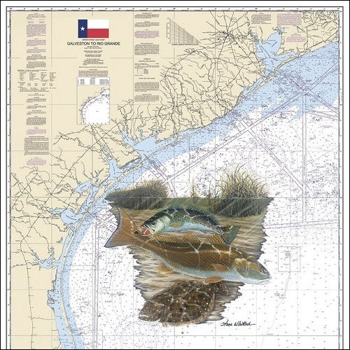 Steve Whitlock 'Texas Slam Chart - SeaTrout.Redf.Flndr.