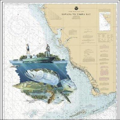 Steve Whitlock 'Hells Bay Slam Chart - Perm.Bon.Redf.Snk.Tarp.'