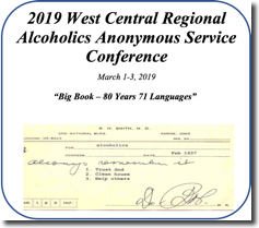 West Central Regional AA Service Conference - 2019