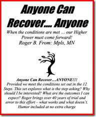 Anyone Can Recover ... Anyone - Roger B. 2019