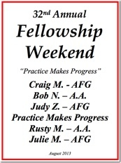 32nd Al-Anon Fellowship Weekend - 2013