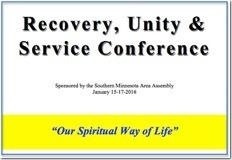 Recovery,  Unity & Service Conference - 2016