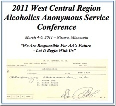 West Central Regional AA Service Conference - 2011