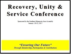 Recovery, Unity & Service Conference - 2017