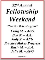 32nd Al-Anon Fellowship Weekend - 2013