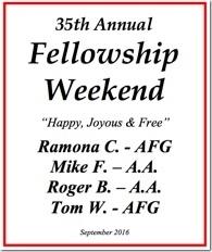 35th Al-Anon Fellowship Weekend - 2016