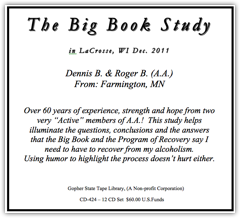 LaCrosse, WI Big Book Study - 2014
