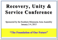 Recovery, Unity & Service Conference - 2015