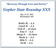 Gopher State Roundup XXX - 2003