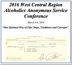 West Central Regional AA Service Conference - 2016