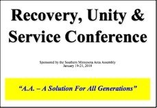 Recovery, Unity & Service Conference - 2018