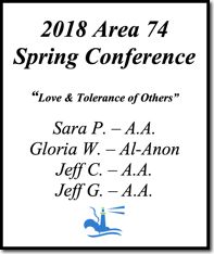 Area 74 Spring Conference - 2018
