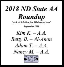 North Dakota AA Roundup - 2018