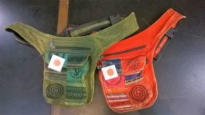 Hip Bags Handmade from Cotton, Made in Nepal