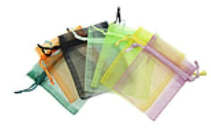"3""x4"" Organza Bags, Asst. Colors, 12 Pack"