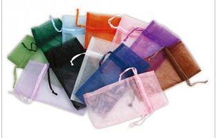 """4""""x5"""" Organza Bags, Asst. Colors, 12 Pk"""