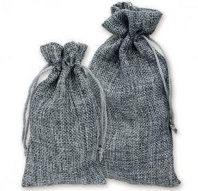 """3""""x4"""" Burlap Bags, Grey Color, 12 Pack"""
