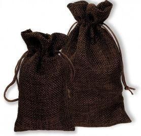 """3""""x 4"""" Burlap Bags, Brown Color, 12 Pack"""