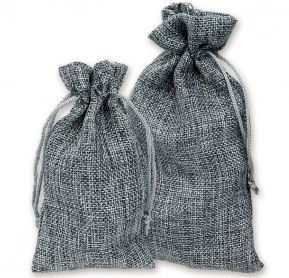 "4""x 6"" Burlap Bags, Grey Color, 12 Pack"