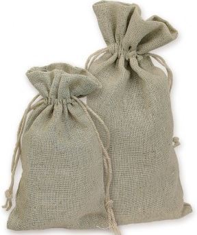 "4""x 6"" Linen Bags, Natural Color, 12 Pack"