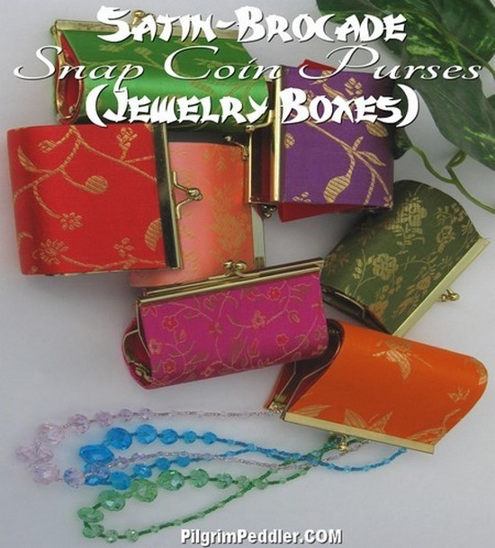"Coin Purses With Clasp, 3"" Asst Colors, Priced per 6 Pk"