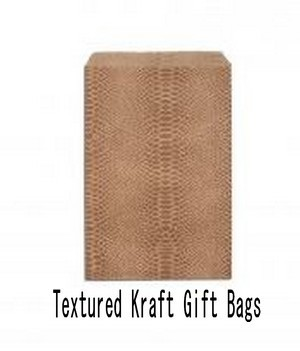 "Paper Kraft Gift Bags, 5""x7"" Textured Design, Priced per 100 Pk"