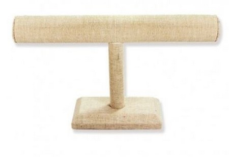 "Linen T-Bar Bracelet Display, 12""L x 7""H, Priced Each"