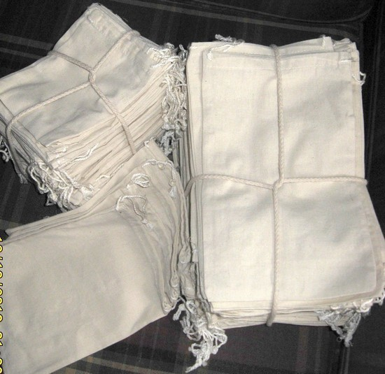 "4""x6"" Cotton Bags with Drawstring, 100 Pk"