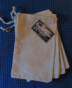 "4""x6"" Cotton Bags, 4 Pack, Priced Per Pack"