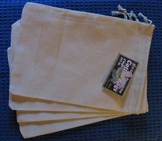 "5""x7"" Cotton Bags, 4 Pack, Priced Per Pack"