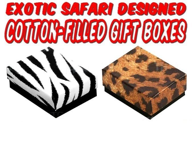 "Safari Design Jewelry Boxes,  8""x  2""x 1"", 100 Pack"