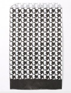 """Paper Gift Bags, 5""""x7"""", Houndstooth Design, 100 Pk"""