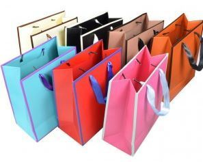 "Merchandise Bags Totes with Handles, 7""W x 4""D x 9""H, 6 Pk"