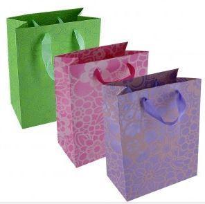 """Merchandise Bags, Floral Design Asst Colors, 7""""Wx 9""""L x 4""""D, 8 Pack"""